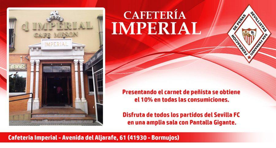 Cartel Cafetería Imperial